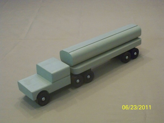 Wood Toy Tractor Trailer Tanker, Wood Toy Tanker Truck, Wood Toy Truck, Wood Toy, Classic Wood Toy, Boys Wood Toy. $29.99, via Etsy.