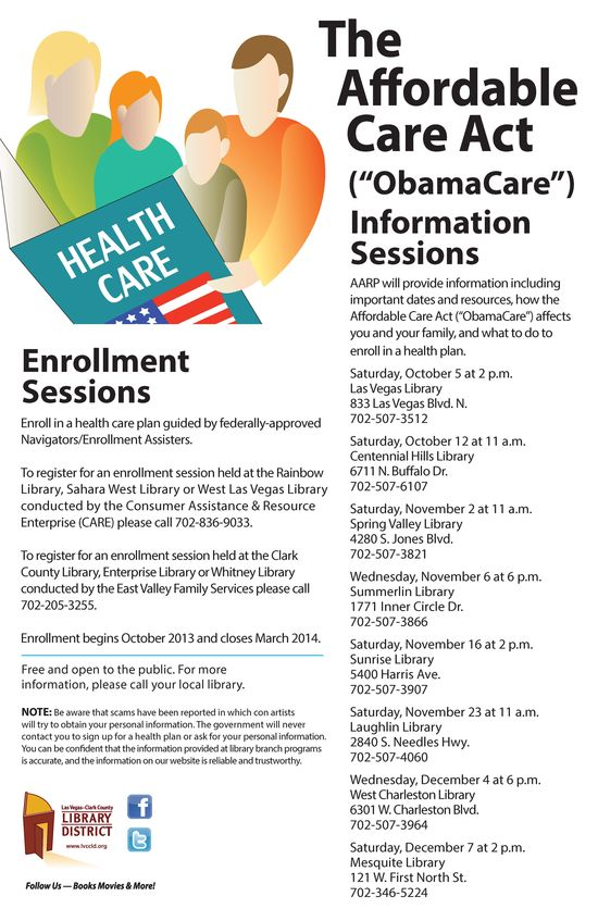 List of workshops for the Affordable Health Care Act  LVCCLD