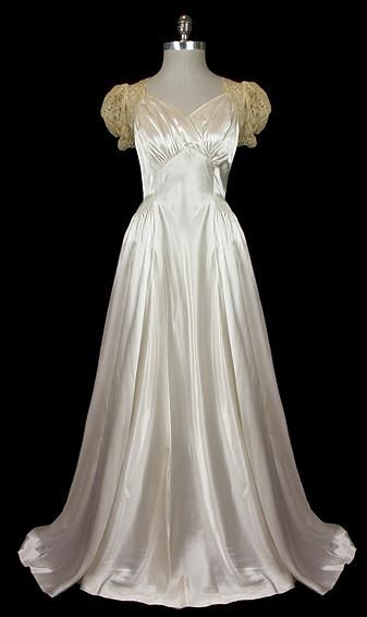 Wedding Dress  1940s  The Frock
