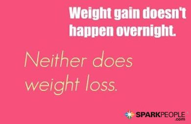 Weight gain doesn't happen overnight. Neither does weight loss.