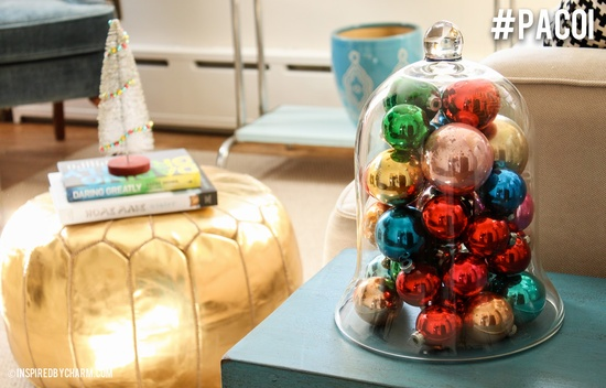 Have some extra christmas ornaments you're not sure what to do with? No worries!  Put a Cloche on it! #PACOI