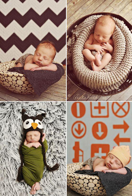 newborn basket photos
