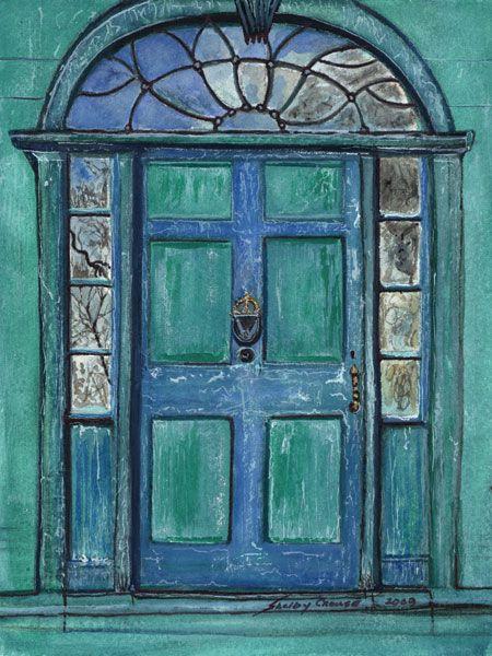 blue & green door