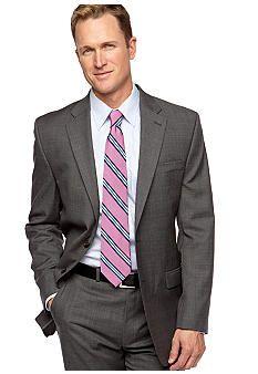 Lauren Ralph Lauren Tailored Clothing Grey Sharkskin Suit Separate Coat  #belk #mens
