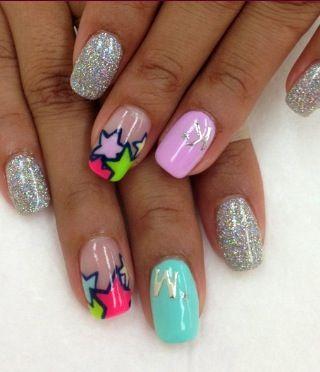 yes! star #nails #nailart