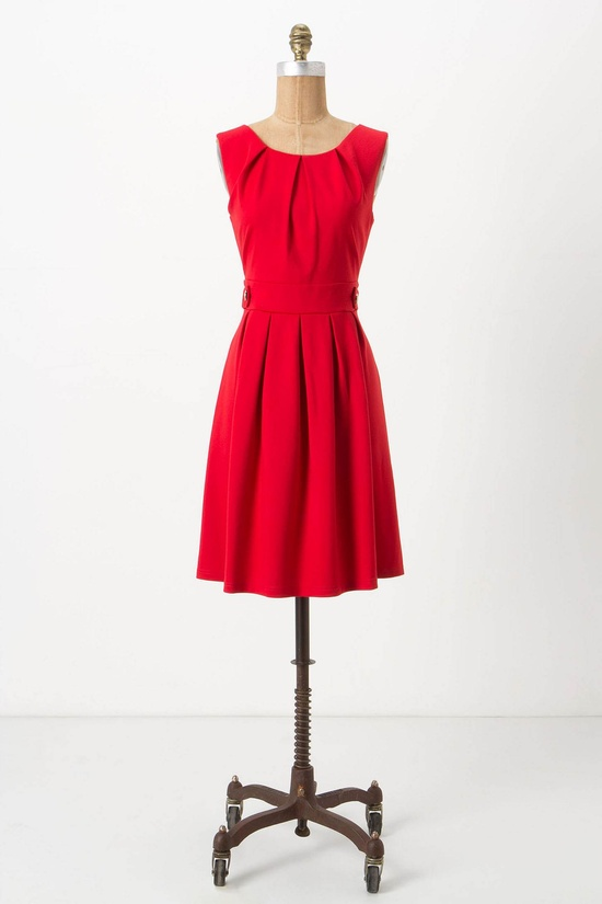 Crimson Pont Dress /