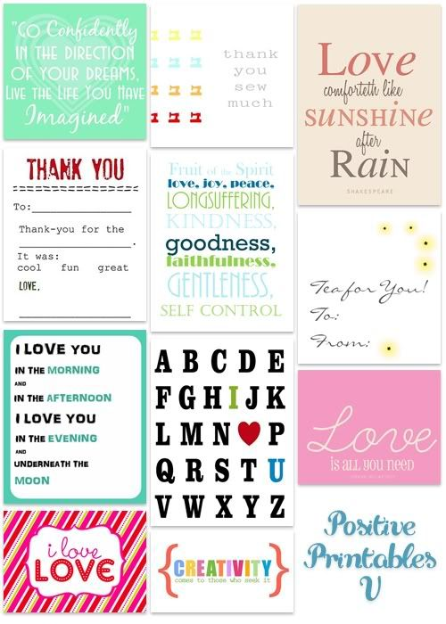 Positive Printables FREE