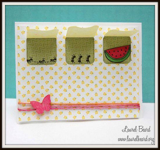 Lawn Fawn - Happy Summer, Pink Lemonade paper _ cute Peekaboo Card by Laurel! Flickr - Photo Sharing!