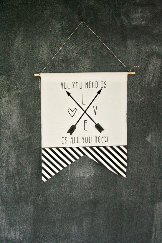 DIY love banner
