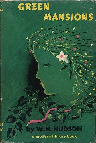 Green Mansions book jacket by E. McKnight Kauffer 1954
