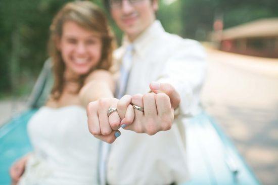 wedding photography pose- ring shot