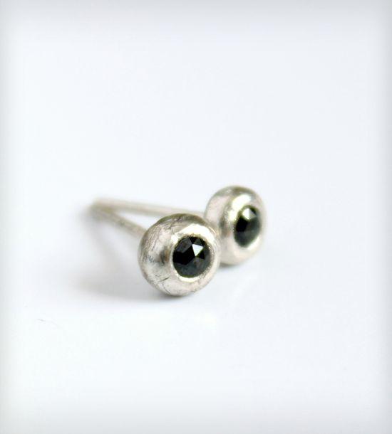 Black Diamond Stud Earrings - love these!!