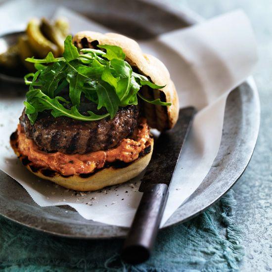 BLT Burger with Garlicky Mayonnaise // More Amazing Burgers: www.foodandwine.c... #foodandwine