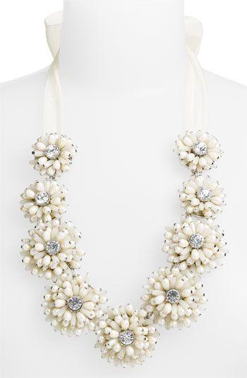 kate spade new york 'gerbera garden' floral necklace
