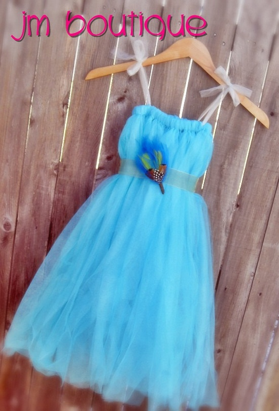 Tulle flowergirl dress