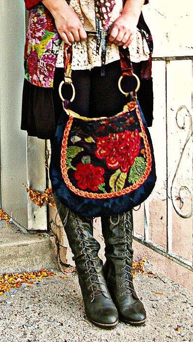 Red roses Tapestry bag. $58.00, via Etsy.
