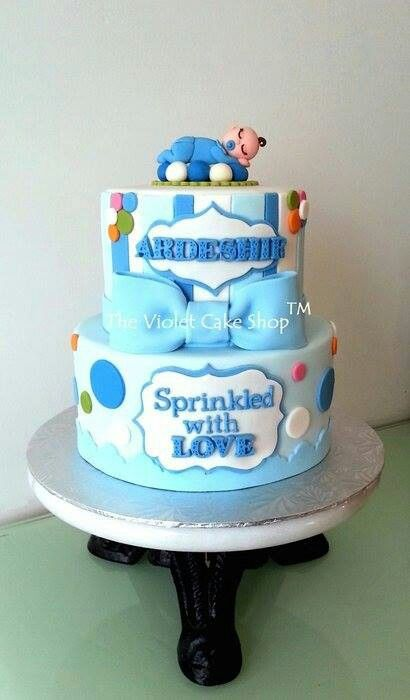 Sprinkled with love baby shower cake. Cakesdecor.com