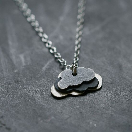 Lovely little cloud necklace - want! $48 #jewelry #necklace #nature #cloud