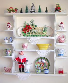 Jolly kitsch christmas decor.