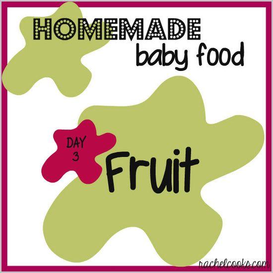 Homemade Baby Food: Fruit