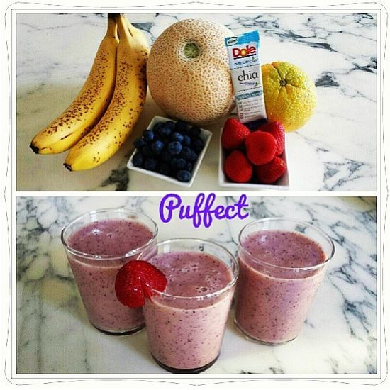 "@Dole Taylor Nutrition's photo: ""Our friends at @puffect made this #dolelicious smoothie. YUM! Can't wait to try it. #delicious #smoothie #fruits #health #breakfast #chia #banana"""