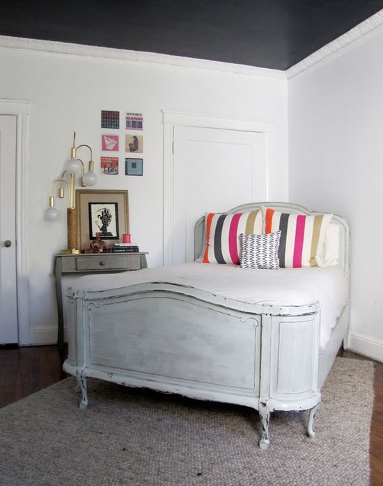 shabby chic with color pop bedroom