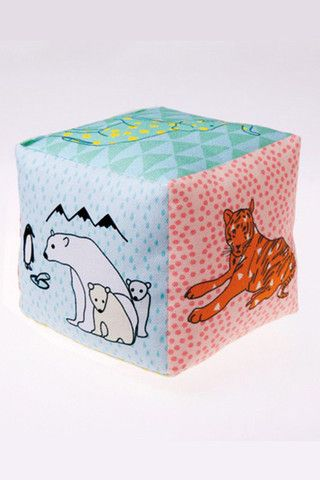 Mimi Lou Baby Toy Cotton Cube Zoo