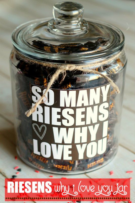 Valentine's Gift idea - so many RIESENS why I love you! Free print on { lilluna.com } #valentines