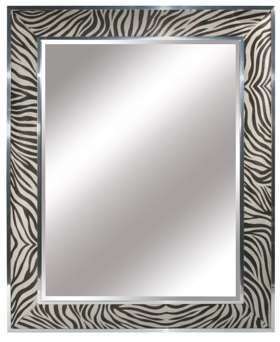 Mirrors, Luxury Designer Faux Zebra  Leather Mirror $2495 so beautiful, one of over 3,000 limited production interior design inspirations inc, furniture, lighting, mirrors, tabletop accents and gift ideas to enjoy repin and share at InStyle Decor Beverly Hills Hollywood Luxury Home Decor enjoy & happy pinning