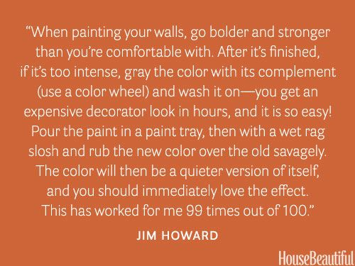 It's okay to try bold colors. housebeautiful.com. #designer_secrets #bold_paint #painting_tips