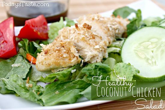 Healthy Coconut Chicken Salad from #health food #health tips #better health solutions