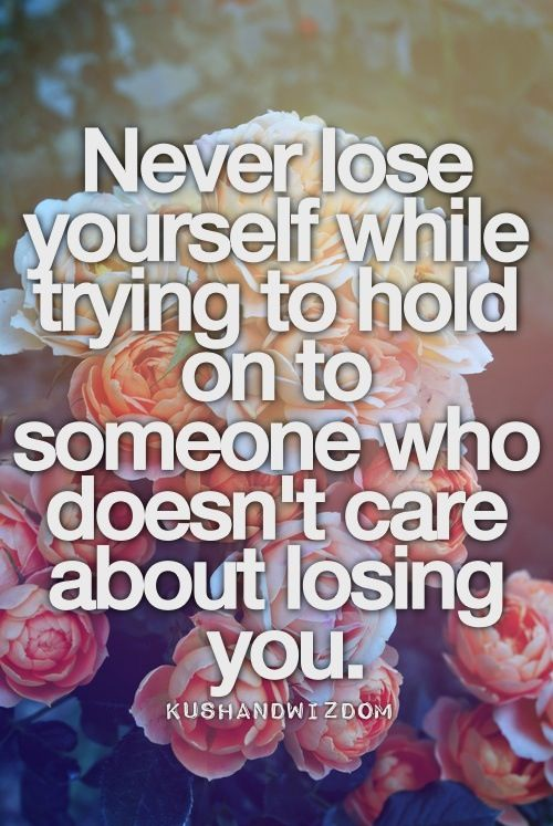 lesson: never lose yourself in ??