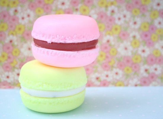 French Macaron Soaps - Handmade Glycerin Soap - 4 scents available by Erin. $7.00, via Etsy.