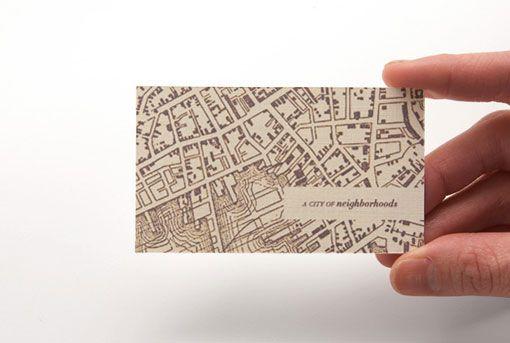 A City of Neighborhood business card