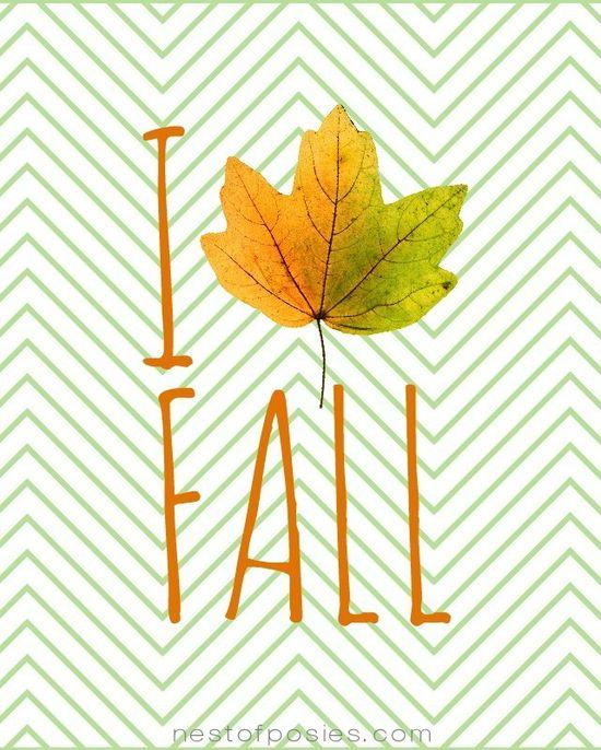 I Love Fall Printable