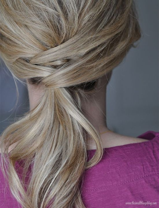 The Small Things Blog: Not Just a Ponytail Hair Tutorial