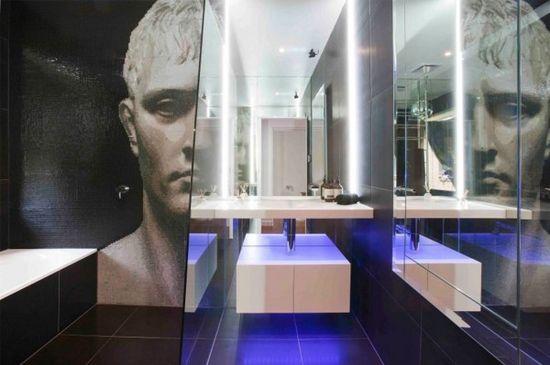 modern bathroom design wallpaper