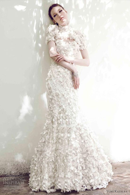 helloweddingdiary:    Yumi Katsura Spring 2013 bridal collection.