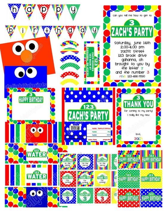 Sesame Street party by delightfulprints