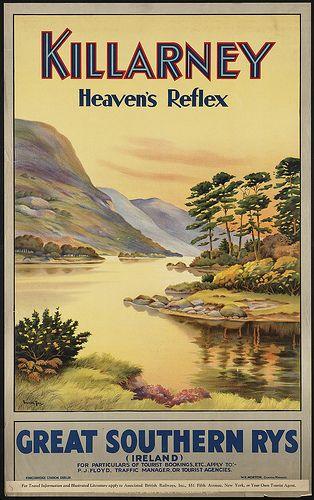 Great Southern Railways - Killarney. Heaven's reflex, Boston Public Library, via Flickr