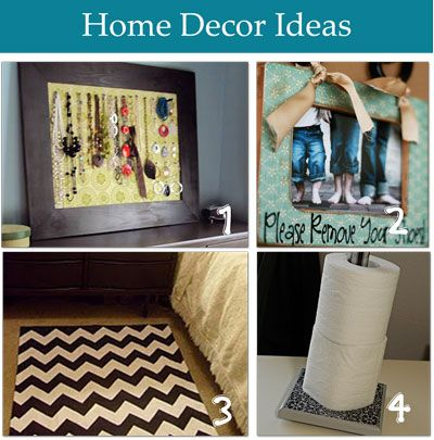 Neat ideas ~~ DIY projects with tutorials. . .