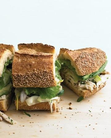 Chicken and Marinated-Zucchini Sandwich