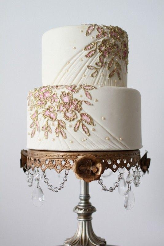 Texture wedding cake