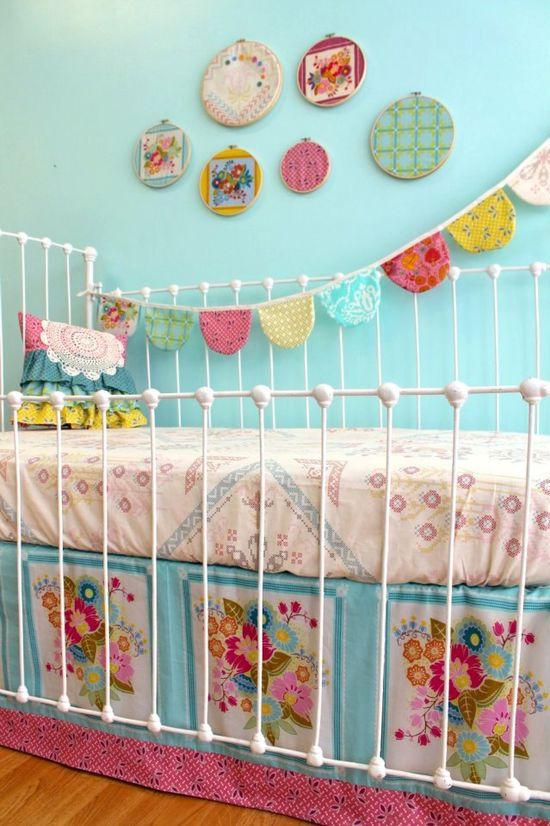 gorgeous vintage baby bedding