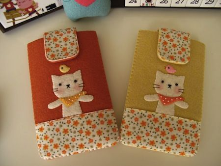 feltlang handmade iphone cases #cat #diy