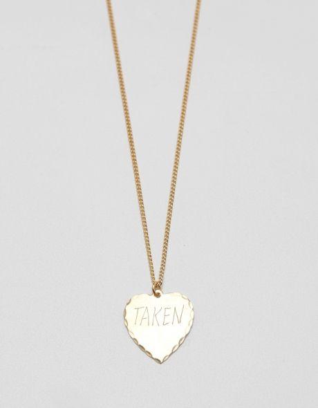 ''taken'' necklace.