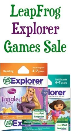 BIG LeapFrog Explorer Game Sale: $9.99! {Toy Story, Disney Fairies, Tangled + more!}