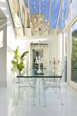 Glass dining room!