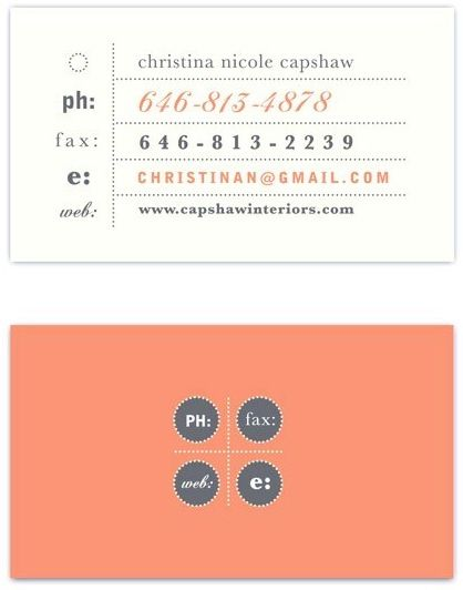 Nice coral business card design