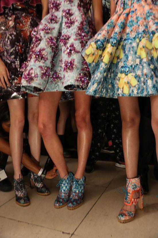 LFW S/S14 #StTropez #tan #tanning #InstantTan #MaryKatrantzou #LFW #fashion #models #catwalk #frontrow #LilyMelrose